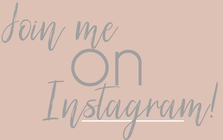Join me on instagram
